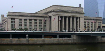 Philadelphia's 30th Street Station, as viewed from Market St.