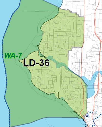 2011 map, 36th LD