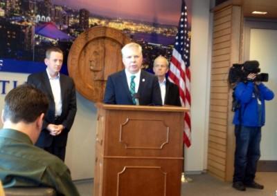 Mayor Ed Murray announces nothing.