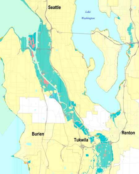 King County projected sea level rise
