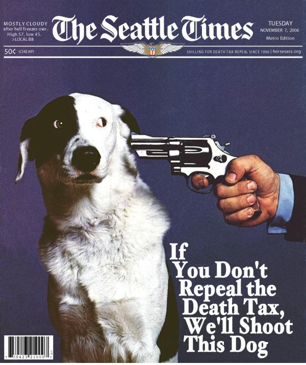 Frank Blethen shoots dogs