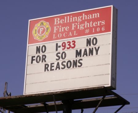 Firefighters oppose I-933