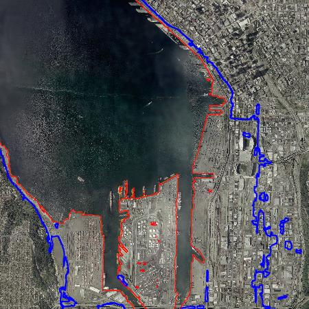 Aerial photo of Seattle showing impact of global warming