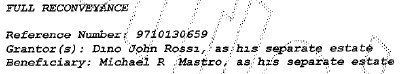 Rossi profits from his sweetheart deal, while Mastro's investors suffer