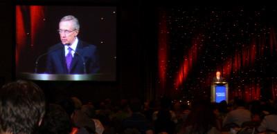 Sen. Majority Leader Harry Reid speaking at Netroots Nation