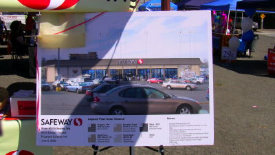 Safeway shows off remodel plans a Othello street fair