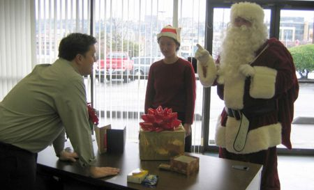 Santa visits McGavick