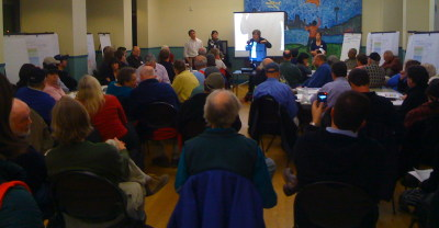 Concerned citizens crowd workshop on sewer overflow reduction alternatives