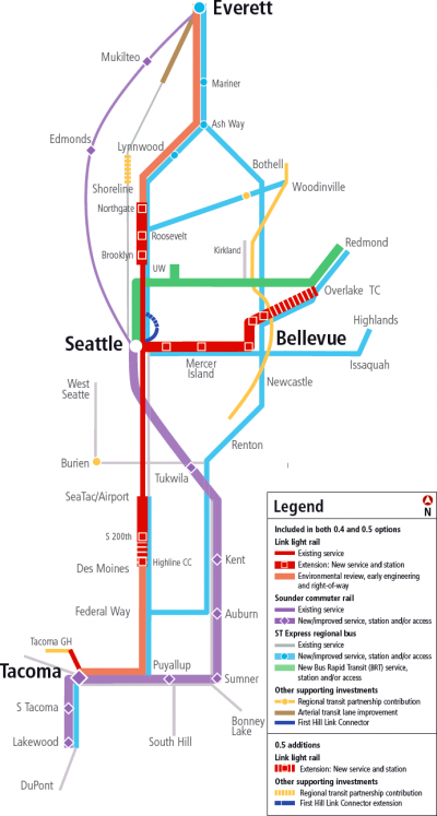 Proposed Sound Transit Map