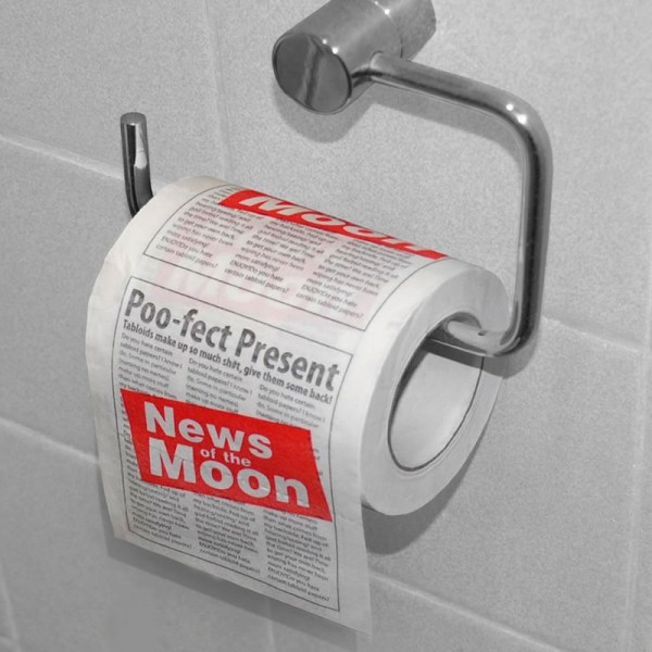 Newspaper toilet roll